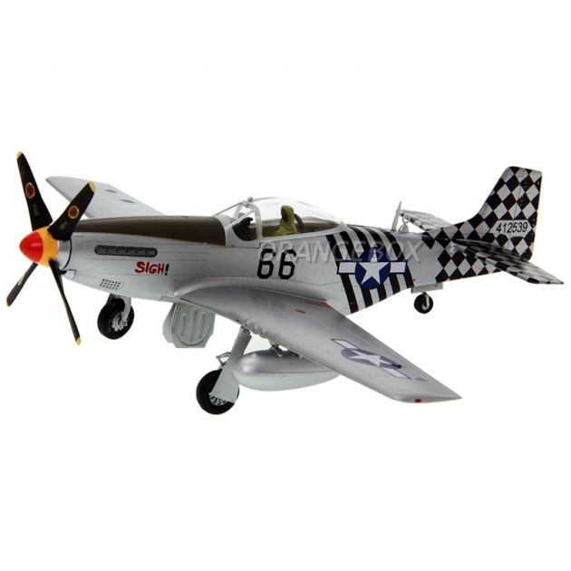 Avião P-51K 6 Air Commando Aquadron 1ACG India 1945 1:48 Easy Model