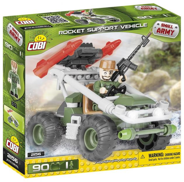 Blocos para Montar Bugue Rocket Support Vehicle Cobi