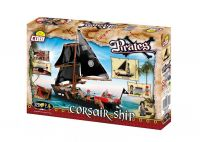 Blocos para Montar Navio Pirata Corsair Ship Cobi