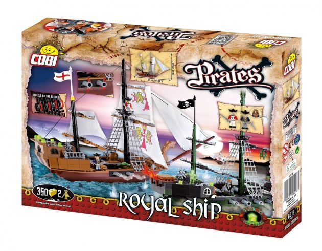 Blocos para Montar Navio Pirata Royal Ship Cobi