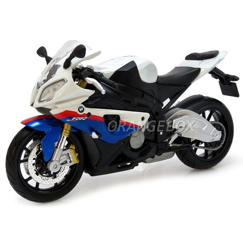 Bmw S1000rr Tricolor 1 12 Maisto Na Orangebox Miniaturas