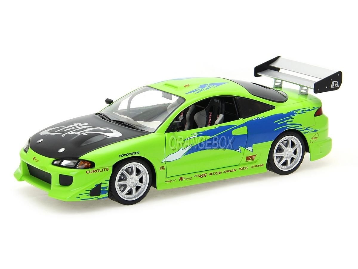 FAST AND FURIOUS MITSUBISHI ECLIPSE 1//18 GREENLIGHT COLLECTIBLES 1995