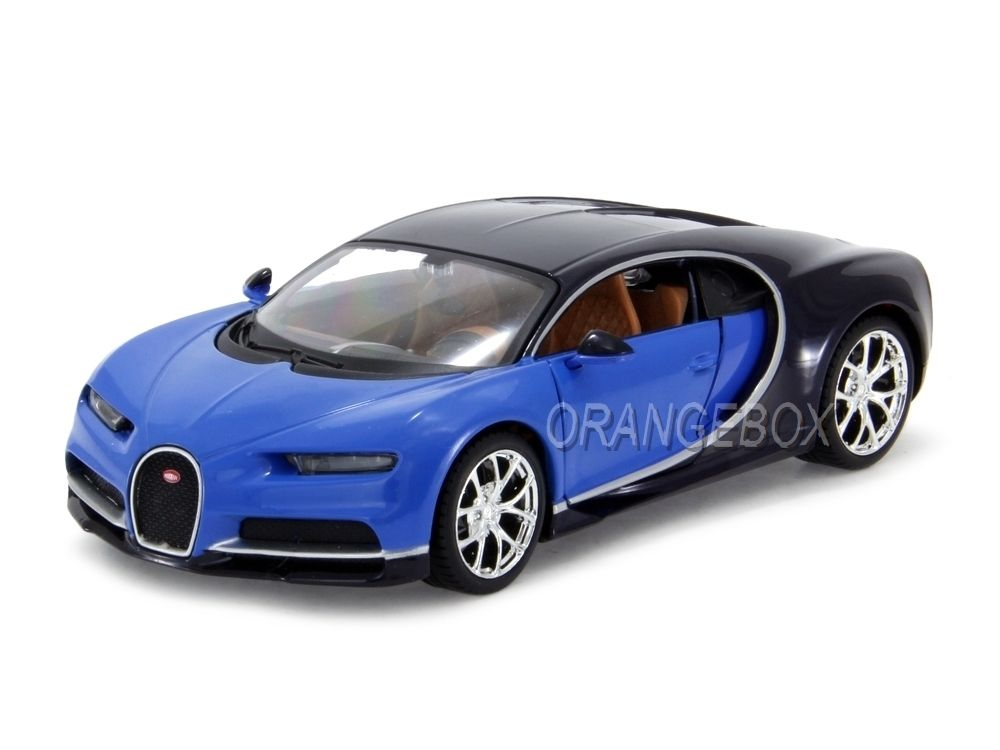 bugatti chiron 2016 1 24 maisto azul na orangebox miniaturas. Black Bedroom Furniture Sets. Home Design Ideas