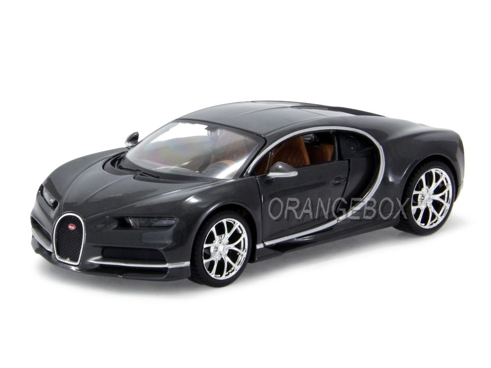 bugatti chiron 2016 1 24 maisto cinza na orangebox miniaturas. Black Bedroom Furniture Sets. Home Design Ideas