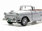 Chevrolet Bel Air 1955 Convertible Soft Top Motormax 1:18 Branco