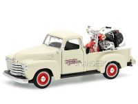 Chevrolet Pick Up 3100 1950 1:25 + Harley Davidson FLSTS Heritage Springer 2001 Maisto 1:24 Creme