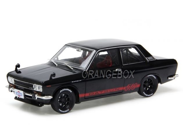 Datsun 510 1970 Auto Japan M2 Machines Preto 1:24