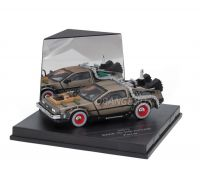 Delorean Back to The Future III Sunstar 1:43 (c/ display em acrílico)