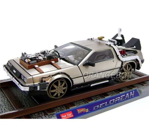 Delorean de Volta para o Futuro 3 Railroad Sunstar 1:18