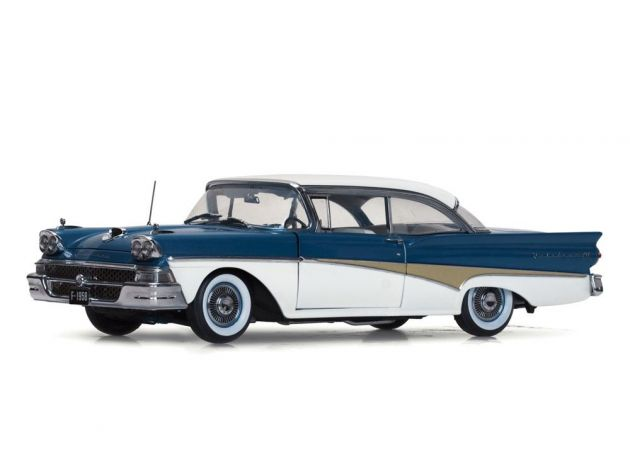 Ford Fairlane 500 1958 Hard Top ''The Car That Went Around the World'' Sunstar Platinum Limited Edit
