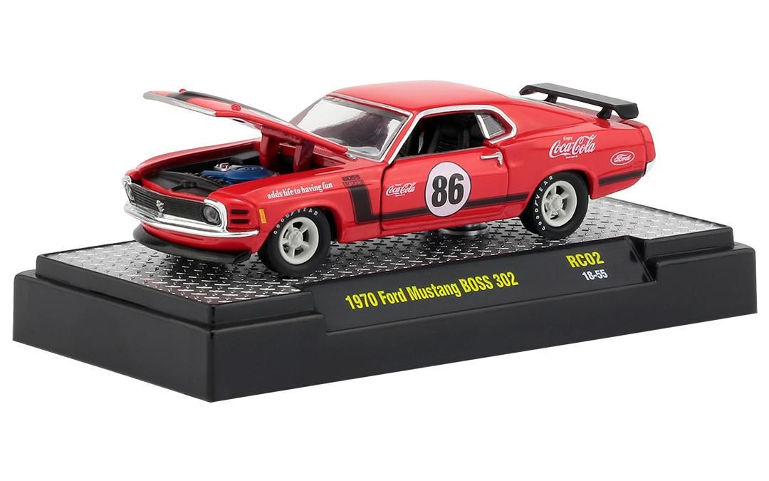 Ford Mustang BOSS 302 1970 RC02 Coca-Cola M2 Machines 1:64