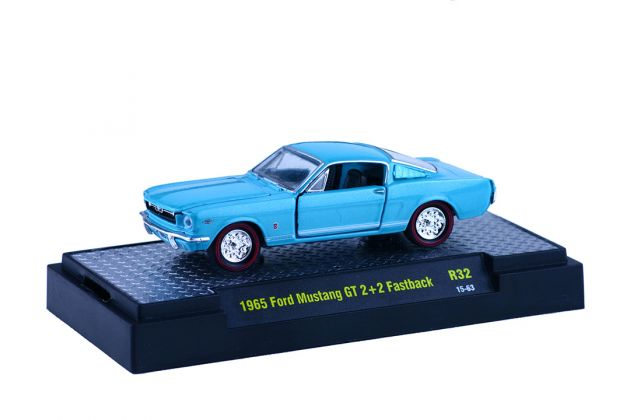 Ford Mustang GT 2+2 Fastback 1965 R32 M2 Machines Detroit-Muscle 1:64