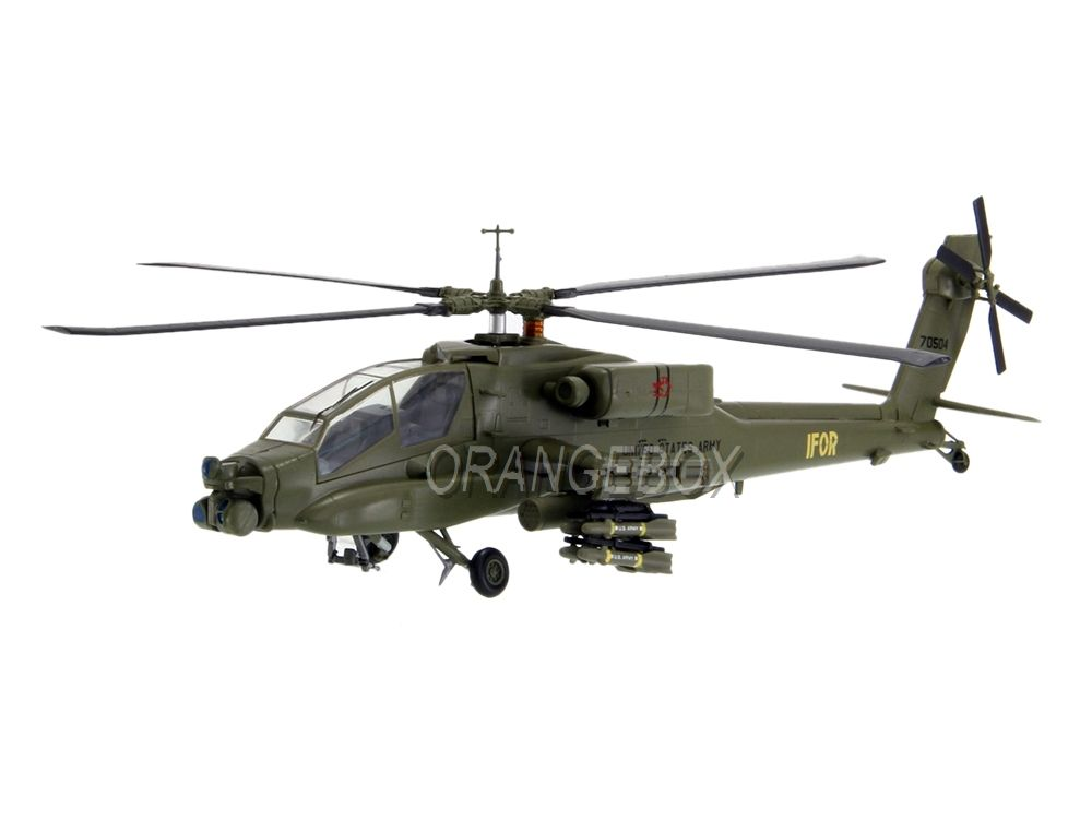 Helicóptero AH-64A 2-227 Head Hunters IFOR Bosnia 1996 1:72 Easy Model