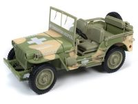 Jeep Willys  MB WWII Medic Army 1941 Autoworld 1:18