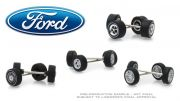 Jogo de Rodas Ford Wheel & Tire Pack Greenlight 1:64
