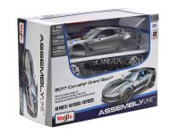 Kit Montar Chevrolet Corvette Grand Sport 2017 1:24 Maisto Cinza