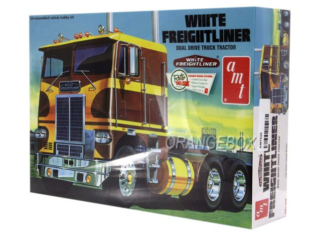Kit para montagem Cavalo Mecânico White Freightliner Dual Drive Cabover Tractor Amt 1:25