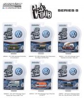 Kit Set 06 miniaturas - Volkswagen Club Vee V-Dub Series 8 Greenlight 1:64