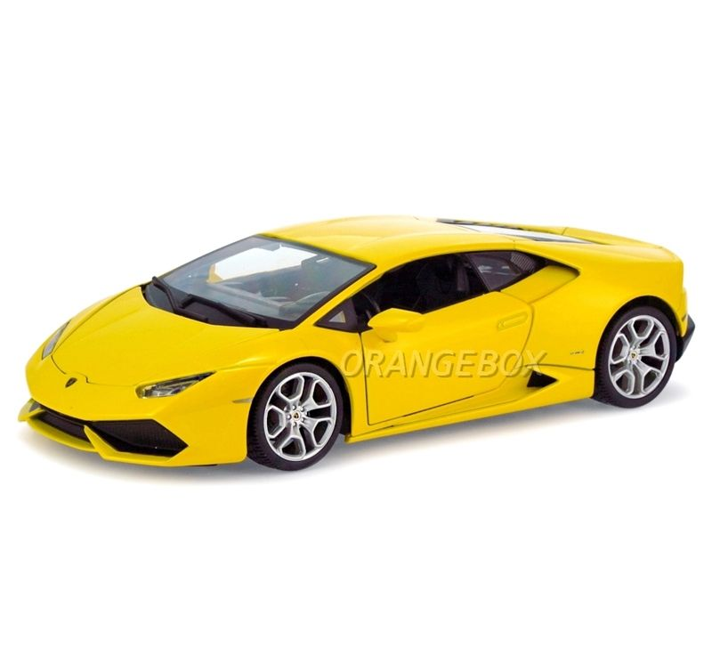lamborghini huracan lp610 4 bburago 1 18 amarelo na orangebox miniaturas. Black Bedroom Furniture Sets. Home Design Ideas