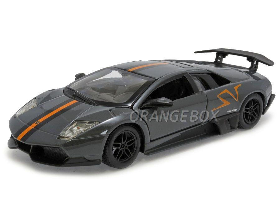 Lamborghini Murciélago LP 670-4 SV China Limited Edition BBurago 1:24 Cinza