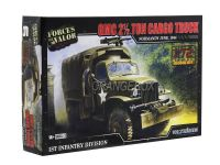 Model Kit Caminhão GMC 2.5 Ton Cargo Truck (Normandy 1944) 1:72 Forces of Valor