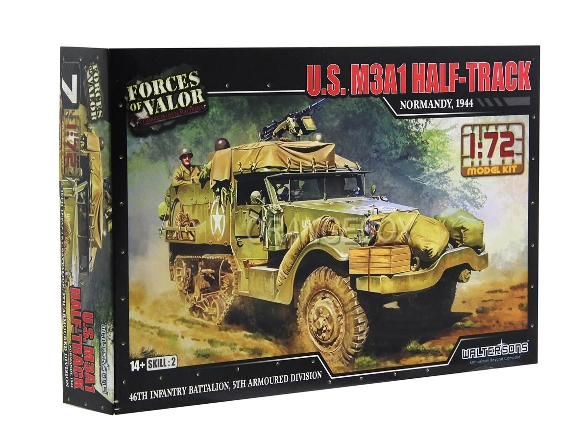 Model Kit Caminhão U.S. M3A1 Half-Truck (Normandy 1944) 1:72 Forces of Valor