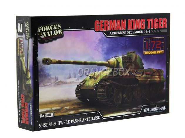 Model Kit Tanque German King Tiger Henschel Turret (Ardennes 1944) 1:72 Forces of Valor