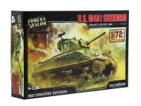 Model Kit Tanque U.S. M4A1 Sherman (França 1944) 1:72 Forces of Valor