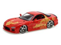 Orange JLS Mazda RX-7 Velozes e Furiosos Fast and Furious Jada Toys 1:24