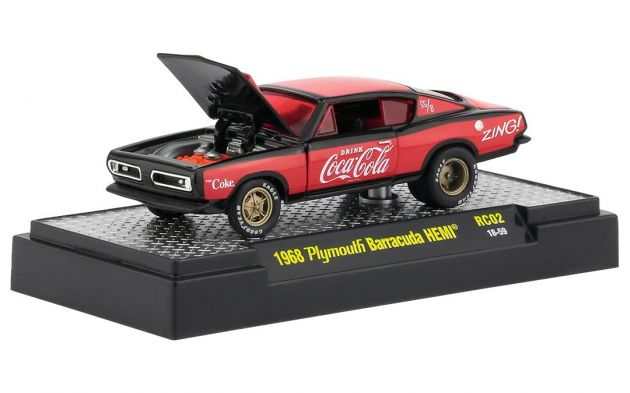 Plymouth Barracuda 1968 Coca Cola HOBBY ONLY RC02 M2 Machines 1:64